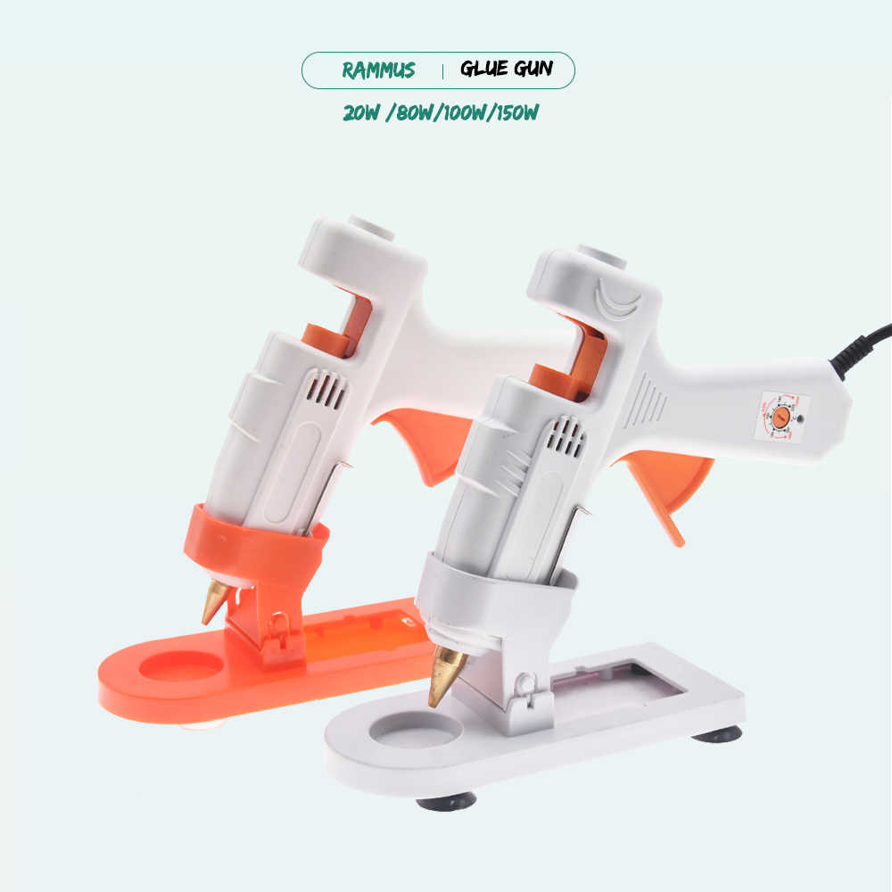 DIY Hot Melt Glue Gun With Stand Industrial Mini Guns Thermo Electric Adhesive Glue Stick Heater DIY Hand Craft Household Repair
