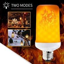 CanLing E27 LED 3W 5W 8W Flame Bulb E14 85-265V Fire Candle Flicker Lamp E26 Christmas Lights For Home Decoration Lighting