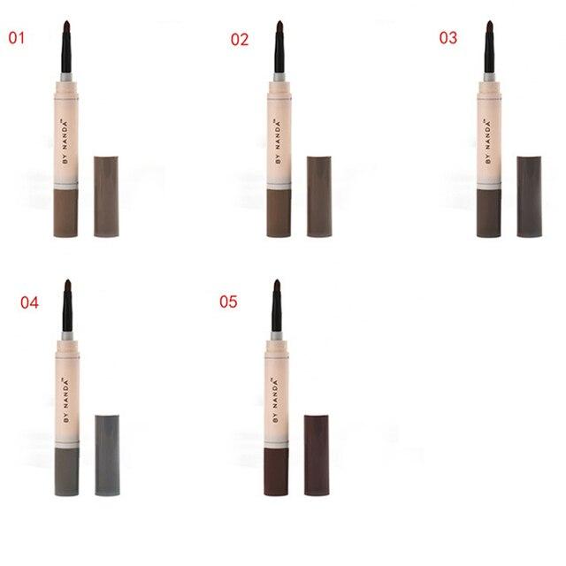 Fashion Professional Eye Brow Dye Cream Pencil Long Lasting Waterproof Brown Eyes Tint Paint Henna Eyebrow Set Makeup Kit 3