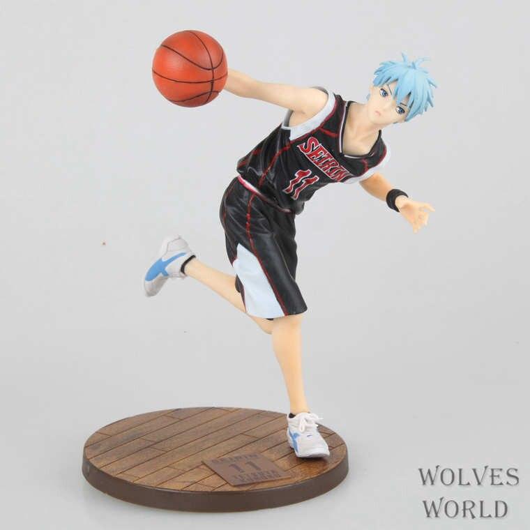 Kuroko no Basket 18cm Kuroko Tetsuya Action figure for girl Guest/Home Unifor in game pose 1
