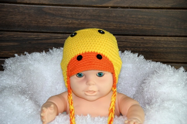 Free Shipping Lovely Crochet Childrens Cartoon Duck Hat Baby