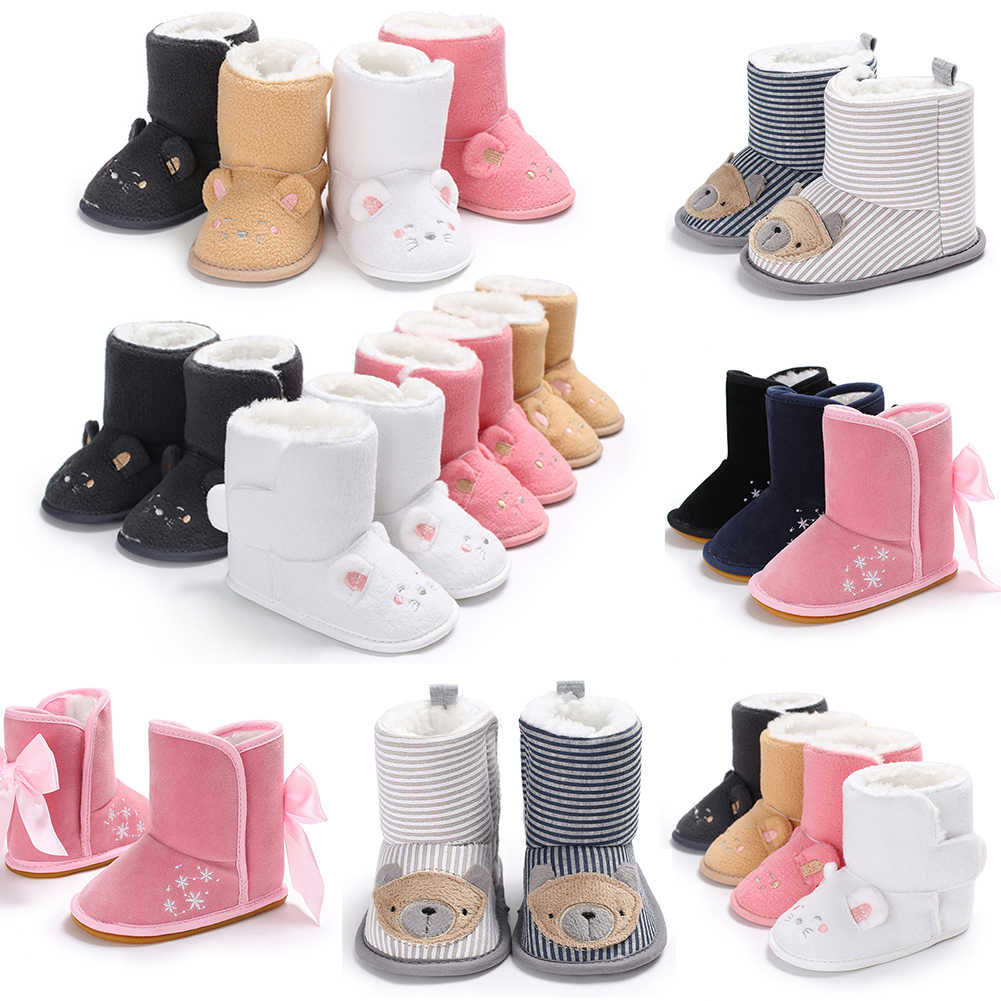 3803c53510eb ... 2018 Lovely Baby Girl Boy Snow Boots Winter Cute Booties Infant Toddler  Newborn Crib Shoes 0 ...