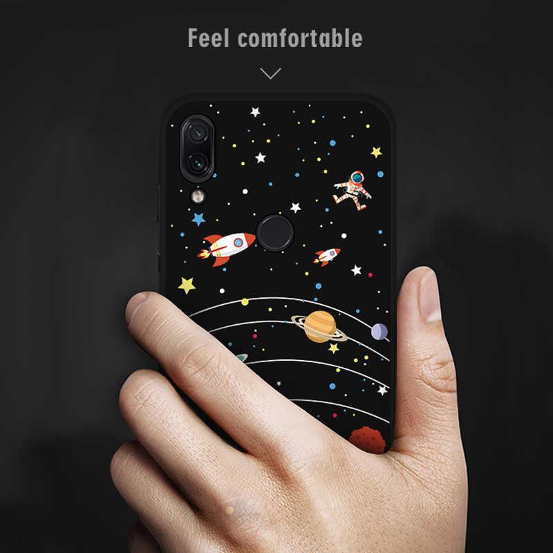 Para Xiaomi Redmi Ir Nota 7 Pro 6 Pro 6A 5 Plus S2 Adorável Coração Pintado Caso Redmi Nota 7 6 5 Pro Silicone Macio TPU Casos de Cobertura de
