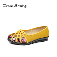 DreamShining Plus Size 34 41 Summer New Brand Women Flats Shoes Women Canvas Shoes Hollow Out