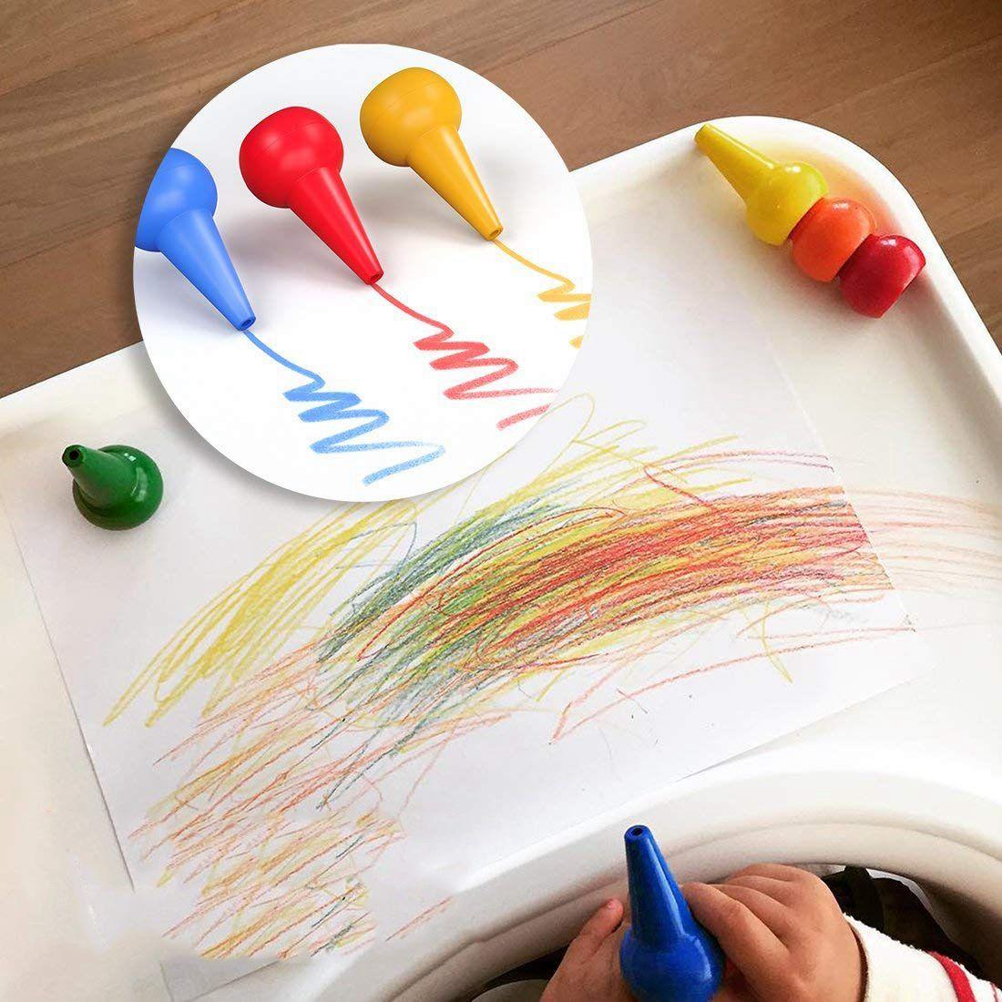 Parmak Toddlers Için Boya Kalemi 12 Renkler Parmak Boya Palm