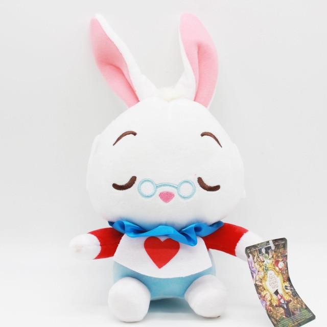 1pcs Alice In Wonderland 2 Stuffed Plush Toys Doll 20cm Alice Cheshire Cat White Rabbit Soft Plush Toy for Kids Children GiftsDolls & Stuffed Toys