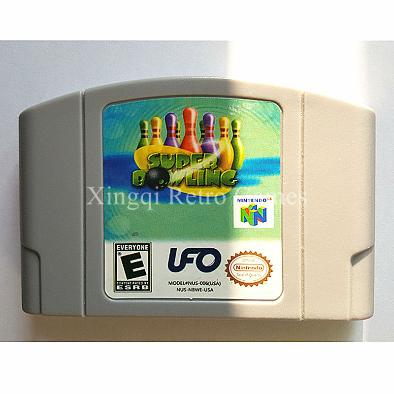 Nintendo n64 juego super bowling videojuegos cartucho de consola tarjeta idioma