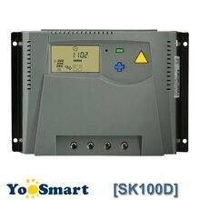 100A блок управления установкой на солнечной батарее 12V 24V Авто или 48V ЖК-дисплей домашняя Солнечная Системы Батарея Контроллер заряда Напряжение регулятор высокое качество