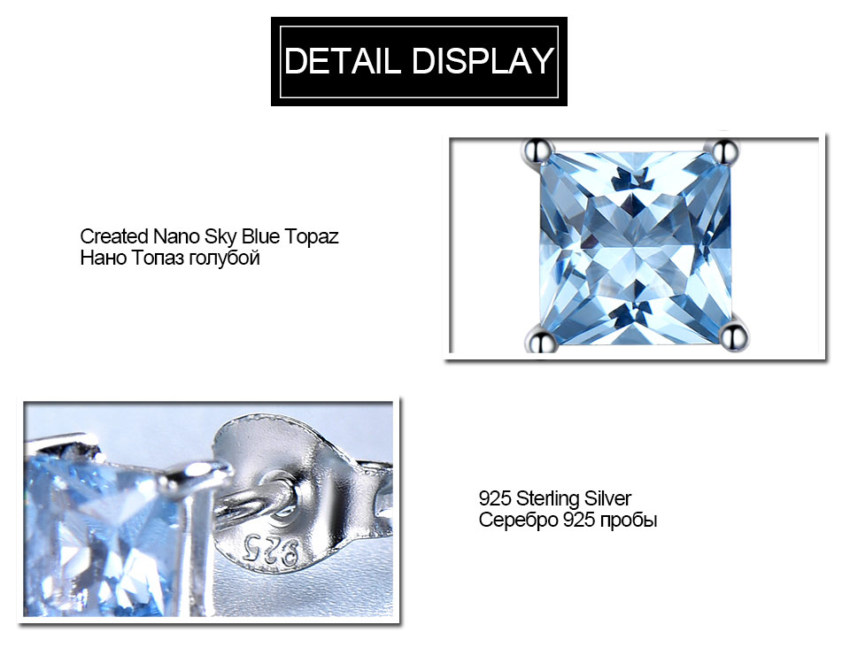 Sky blue topaz sterling silver earrings EUJ071B-1 (5)