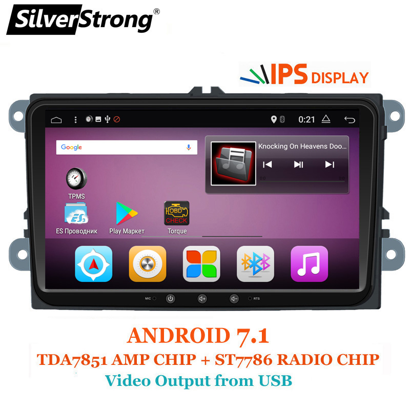 SilverStrong 9 pollici IPS matrix Android7.1 DVD Dell'automobile Per Il VW Passat Jetta mk5 Golf6 Polo Android Radio RDS TPMS-901BT3
