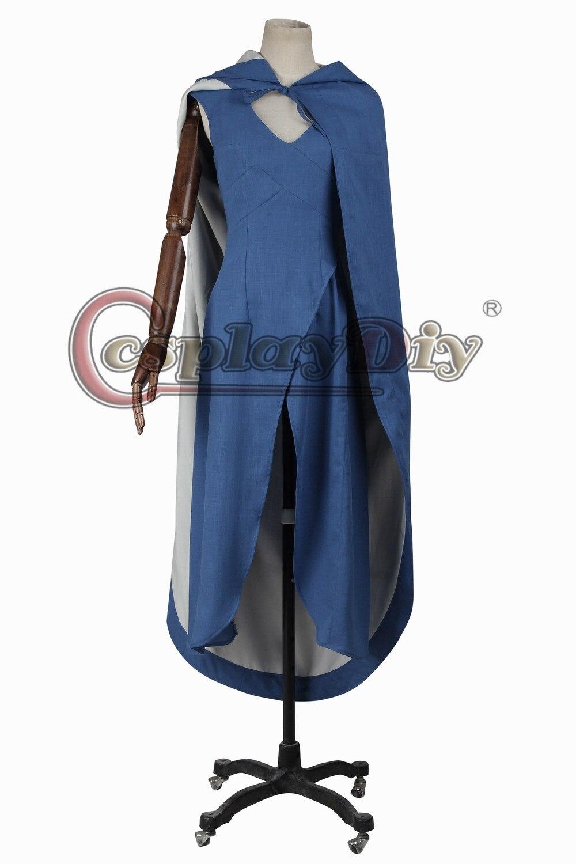Cosplaydiy  Game of Thrones:Daenerys Targaryen Cosplay Dress Costume For Adult Women Halloween Custom Made