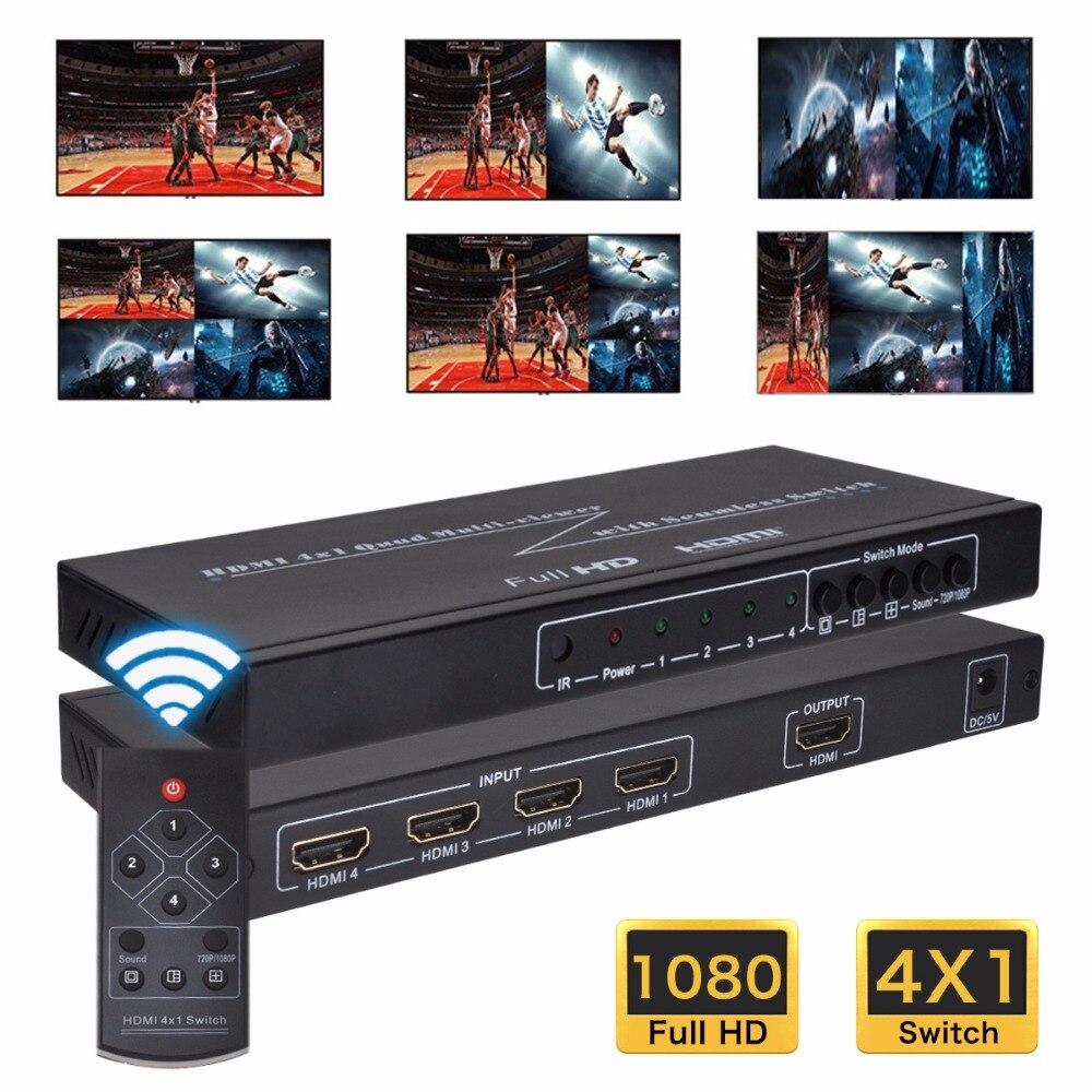 Iseebiz 4 вход 1 выход HDMI переключатель сплиттер HDMI переключатель ИК пульт дистанционного управления