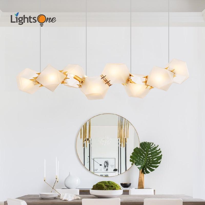 US $76 0 20% OFF|Nordic creative restaurant pendant lamp postmodern  minimalist DNA molecule living room bar hotel long pendant lights-in  Pendant