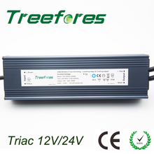 IP66 Triac 80W 100W 120W 150W 200W 300W 360W Dimmable LED Driver AC to DC 12V 24V Power Supply Dimming Lighting Transformer