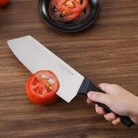 Liang Da Kitchen 7 inch Chef's Knife High Carbon Stainless Steel Sharp Cleaver Slicing Japan Santoku Knives Ergonomic Equipment