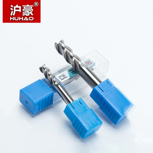 Image 5 - HUHAO Fresa de carburo sólido de 3 flautas, fresa CNC de aluminio HRC45, brocas de enrutador de acero de tungsteno, 1 unidad