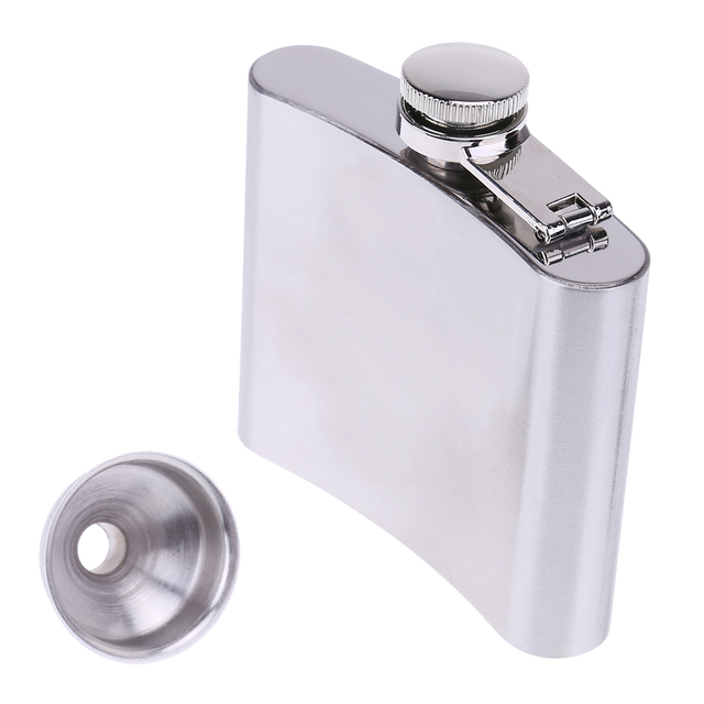 5oz/142 ml Man Fashion Portable Stainless Steel Alcohol Whiskey Liquor Flagon Wine Pot Outdoor Portable Hip Flask with Funnel