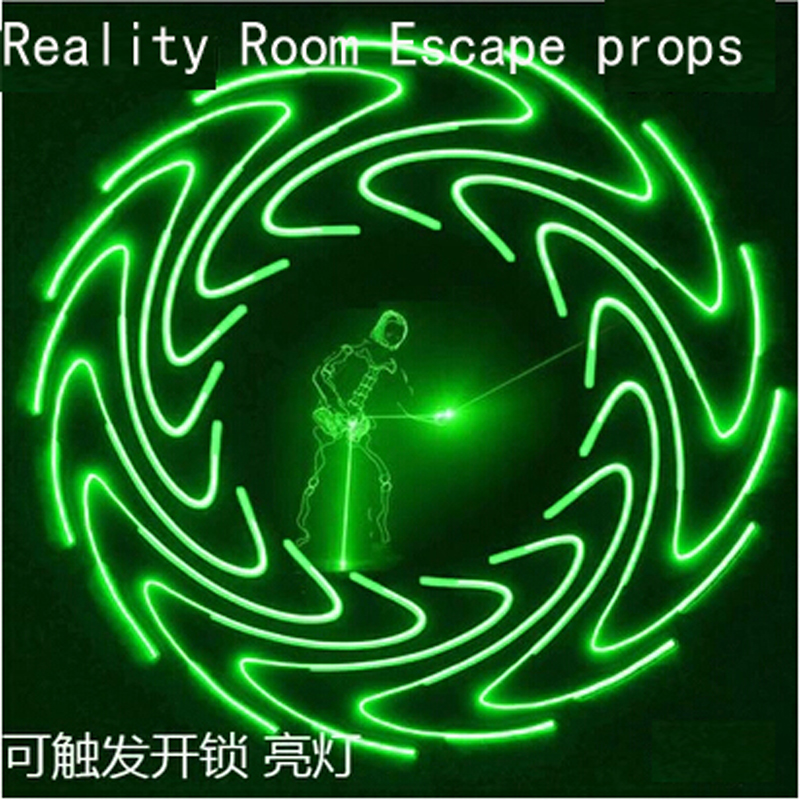 12v tool Reality Room Escape aids props Light at the same time unlock 4pcs light-sensitive receivers Lighting putter Sound