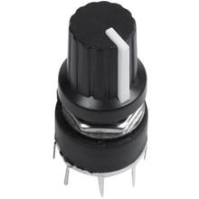 1 Stuks Zwart Plastic Band Switch SR16 Schakelaar 1 Mes 5 Kraampjes Rotary Switch 3.2*1.6*1.6Cm