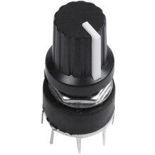 1 Uds interruptor de banda de plástico negro SR16 interruptor 1 Cuchillo 5 puestos interruptor giratorio 3,2*1,6*1,6 cm