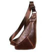 Nagelneue Echte Leder Casual Brust Pack Schultertasche herren Schultertasche Messenger Taschen Reisetasche Solide Zipper Stil Design