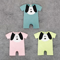 baby boy summer rompers kids jumpsuit Children's Clothing Baby Cute Puppy Cotton Romper Jumpsuit Dress 3 Color Climbing Clothes