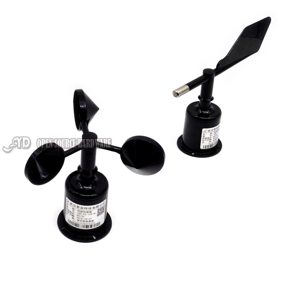 1 paire de trois tasses de capteur de vitesse du vent/compteur de direction du vent de direction du vent (RS485/232, 4-20mA/0-5 V)