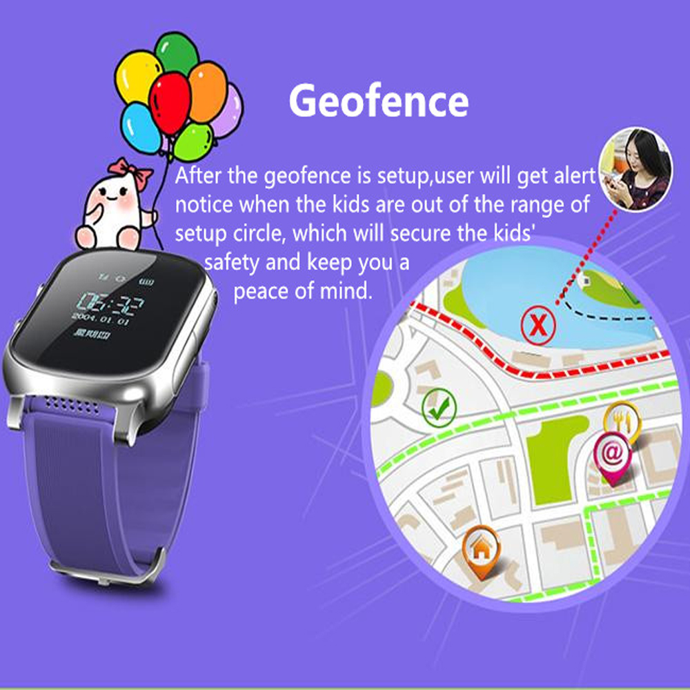Image 2 - T58 Smart Watch GPS Wifi Smart Tracker Antil lost Baby Fitness Tracker SOS Children Smartwatch Student Kids Smartwatch.-in Smart Watches from Consumer Electronics