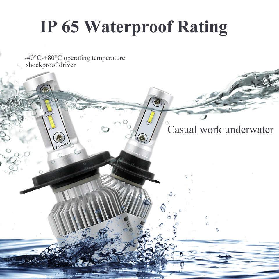 ANMINGPU 16000lm/pair 72W Led H7 Headlight Bulbs H3 H1 H4 Led Bulb 9005/HB3 9006/HB4 H8 H11 Led Fog Light CSP 12V Auto Headlamp