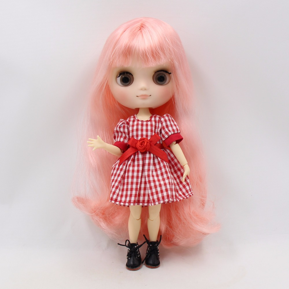 Middie Blythe Doll Pink Hair Jointed Body 20cm 1