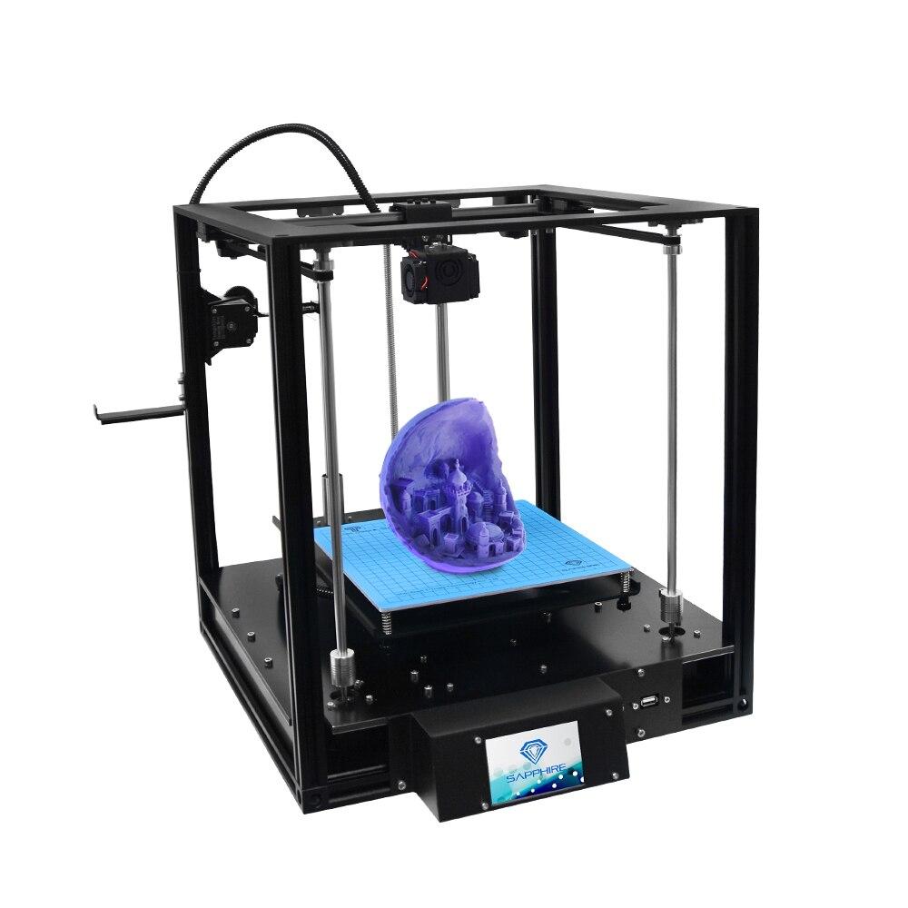 Saphir S 3D nivellement automatique imprimante 3D tactile LCD Titan extrudeuse reprendre la fonction d'impression Guide linéaire CoreXY bureau imprimante 3D