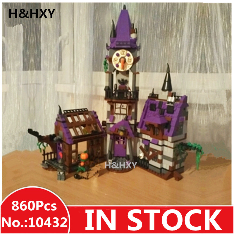 H&HXY IN STOCK 10432 Scooby Doo Mysterious Ghost House 860pcs Building Block Toys Compatible 75904 Blocks For Children gift 10432 scooby doo mysterious ghost house mode building blocks educational toys 75904 for children christmas gift legoingse toys