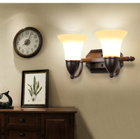 Lâmpada de parede do vintage americano rústico espelho cama lighting luz wl3072|mirror light|rustic wall lampswall lamp -
