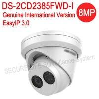 DHL Gratis verzending Engels versie DS-2CD2385FWD-I 8MP mini netwerk torentje cctv camera POE, 30 M IR, H.265 dome ip camera