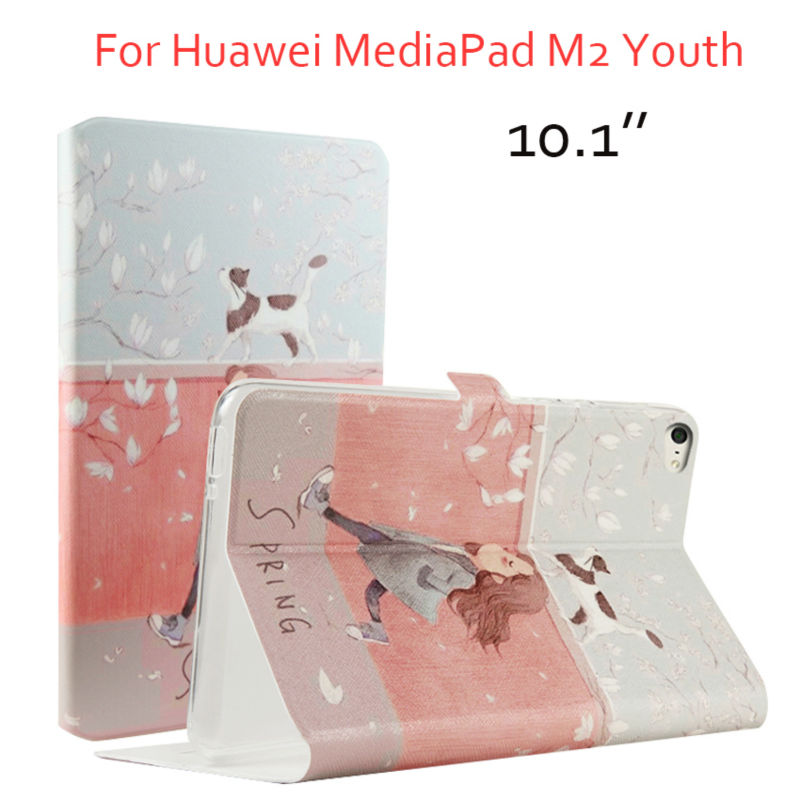 все цены на MediaPad T2 10.0 Pro PU Leather Tablet Case Cover 10.1'' Print Fundas For Huawei MediaPad T2 10.0 Pro A01W A03L Protective Stand онлайн