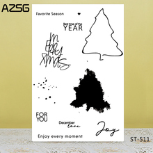AZSG Concise Style Tree Outline Clear Stamps/Seals For DIY Scrapbooking/Card Making/Album Decorative Silicone Stamp Crafts
