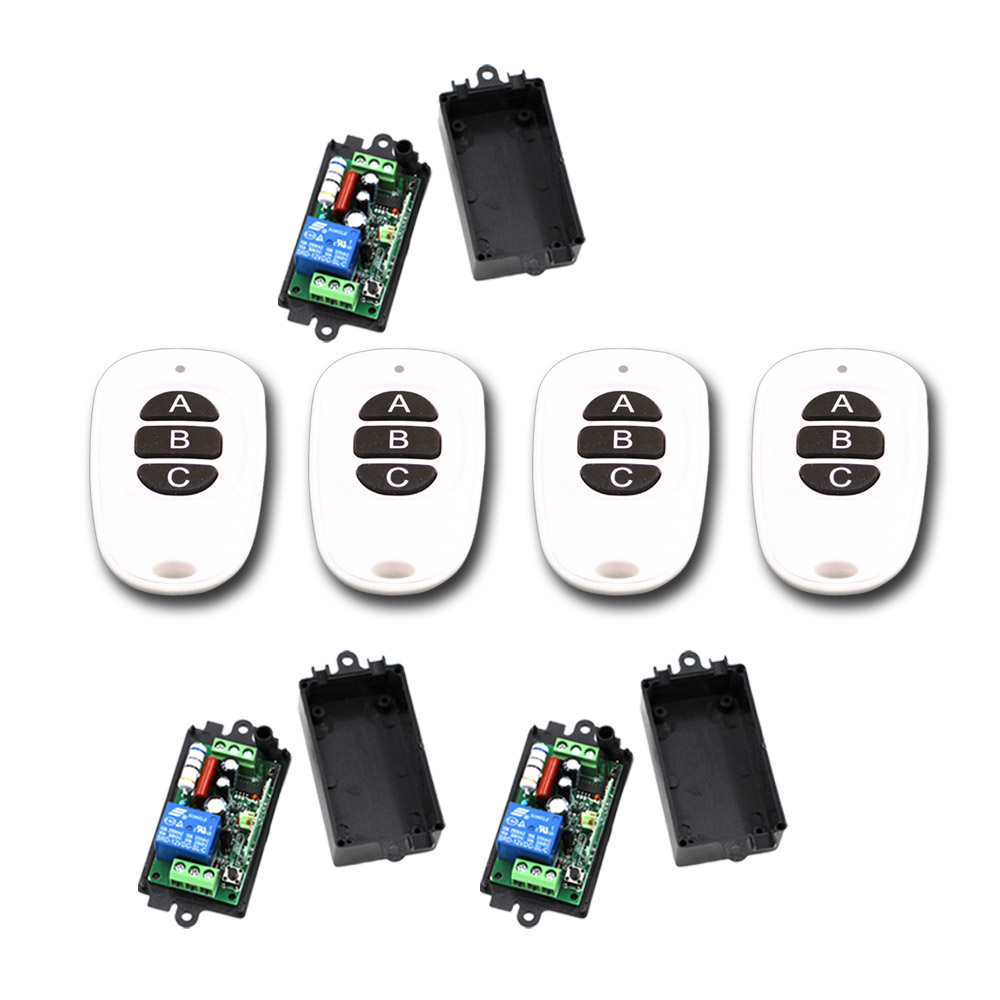 110V 220V Wireless Remote Control Switch RF Remote Switch System 1CH Relay Receiver Transmitter Remote Plug ON/OFF Teleswitch 2pcs receiver transmitters with 2 dual button remote control wireless remote control switch led light lamp remote on off system
