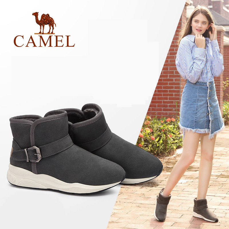 CAMEL 2018 Furry Boots Shoes Winter New Platform Snow Boots Shoes Women Casual Style Solid Keep Warm Shoe For Ladies camel winter women boots 2015 new shoes retro elegance sheepskin fashion casual ladies boots warm women s boots a53827612