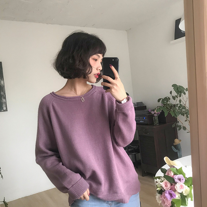 6 Colors 2018 Autumn And Winter Solid Color Roll Up O Neck Rabbit Fur Knitted Sweaters Womens Pullovers Womens (F1316)