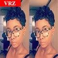 Бразильские Волосы парики Короткие Человеческих Волос Glueless Полный Парик Шнурка для черные Женщины Эльфа Вырезать Волос Парики с Ребенком Волос 2016 Горячая продавать