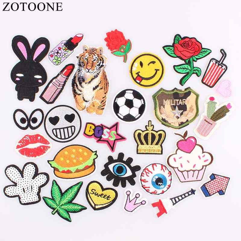 e7782ada3612 ZOTOONE DIY Iron Patches For Clothing Embroidery Rose Army Sequin ...