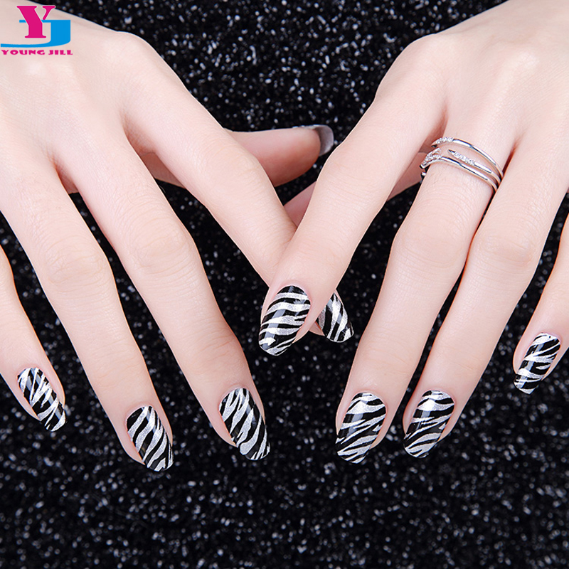 Aliexpress New Y Black Strips Animal Polish Nail Art Stickers Wraps Diy Decorations Salon Tools Real Varnish Patch Top Quality From