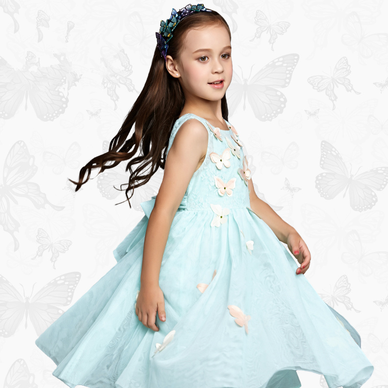 1 Girls 'Ortensia' Dress with Handmade Dragonfly 2017 Brand Princess Dress Long Sleeve Robe Fille Clothes Kids Dresses 28