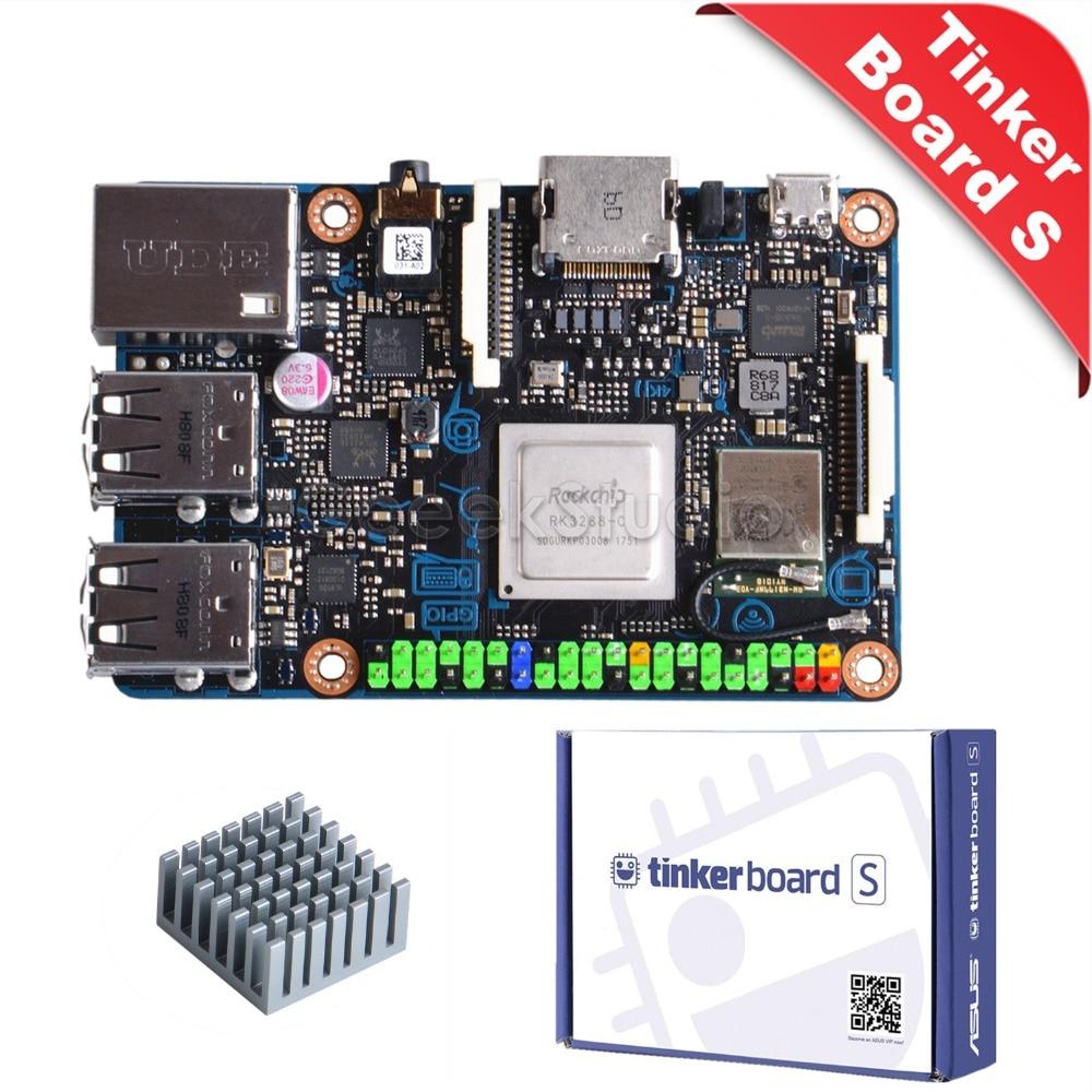 Official ASUS SBC Tinker Board S RK3288 SoC Onboard 16GB eMMC, 1.8GHz Quad Core CPU 600MHz Mali-T764 GPU, 2GB LPDDR3 gpd xd 5 inch android4 4 gamepad 2gb 32gb rk3288