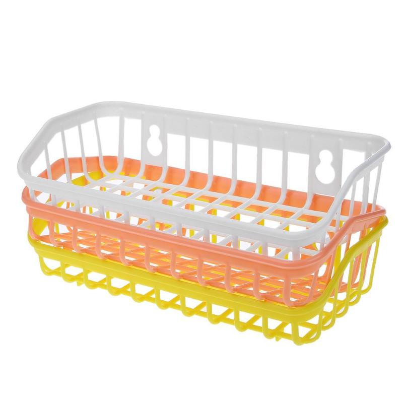 1 pc Sponge Hanging Basket Plastic Kitchen Shelving Storage Bag Sucker Sink Drain Basket Practical Useful Storage Holder Basket
