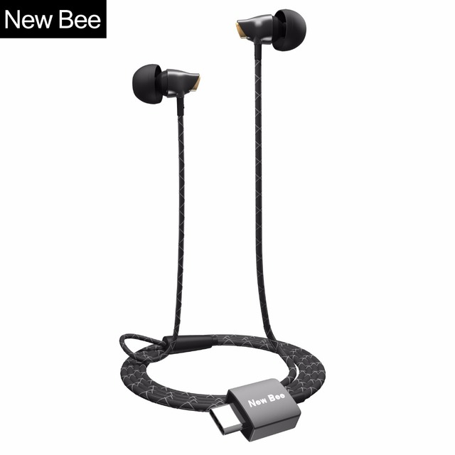 New Bee Ceramic Type-c Earphone USB-C CDLA Stereo Headset with DAC Earbud Case for Huawei Letv Samsung Google Type c Port Phone