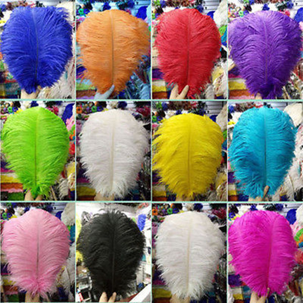 Free shipping! Wholesale 100pcs natural red hair ostrich feather 35-40cm / 14-16 inch feather wedding ceremony hot