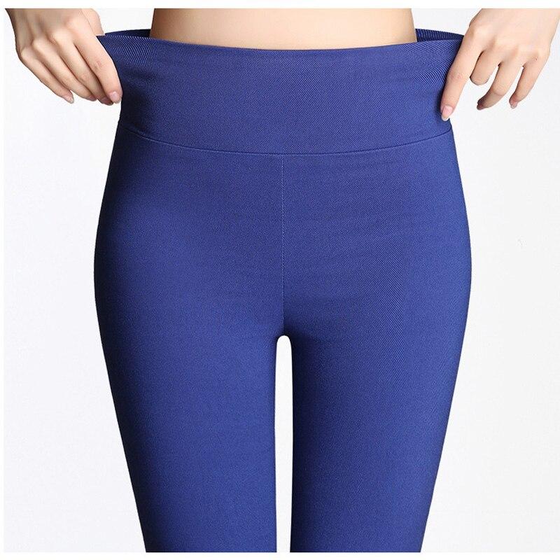 S-6XL15 Colors New Winter Plus Size Women's Pants Fashion Candy Color Skinny High Waist Elastic Trousers Fit Lady Pencil Pants