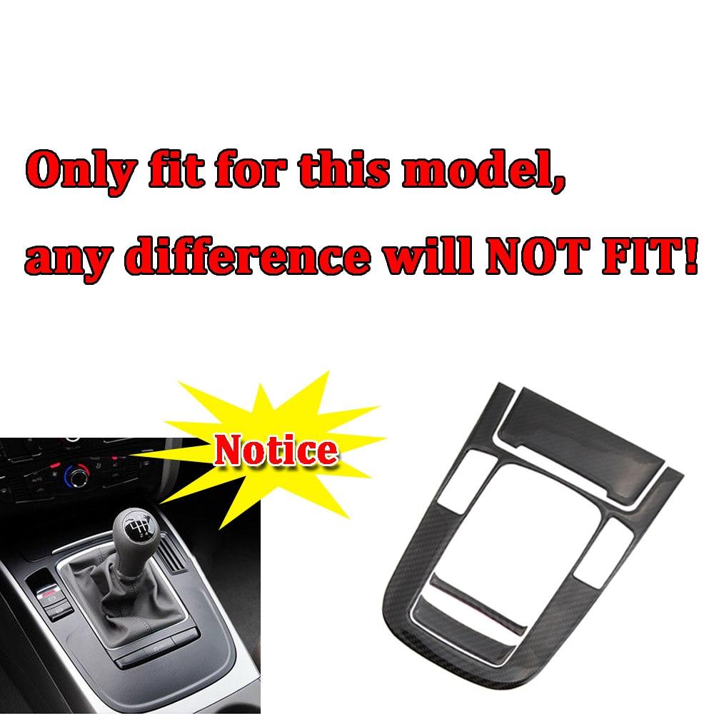 Car Center Console Gear Shift Panel Decoration Cover Trim For Audi A4 B8 A5 2012 2013 2014 2015 2016 2017 Carbon Fiber Strips