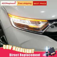 Faros LED de 2 piezas para Honda CRV 2017-2019 luces led de coche Ojos de Ángel todo KIT LED luces antiniebla luz LED de circulación diurna